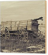 Old Days Wood Print