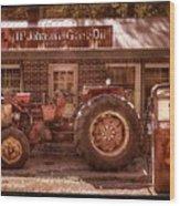Old Days Vintage Wood Print by Debra and Dave Vanderlaan