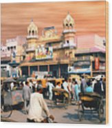 Old Dehli Wood Print