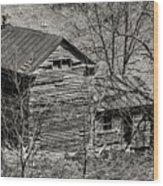 Old Deserted Farmhouse 3 Wood Print