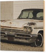 Old Desoto In Sepia Wood Print