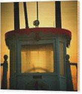 Old Dixie Boat Cab Sunrise Wood Print