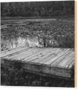 Old Dock At Dusk Wood Print