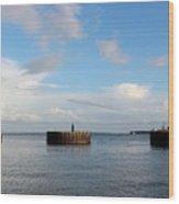 Old Docks Of Gasparilla Wood Print