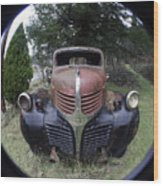 Old Dodge Truck Wood Print