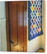 Old Door - New Quilt Wood Print