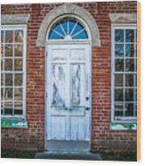 Old Door And Windows Wood Print