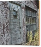 Old Door County Cherry Store Wood Print
