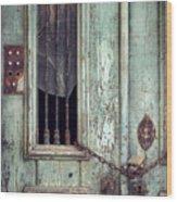 Old Door Detail Wood Print