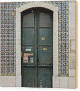 Old Door - Electronics Store Wood Print