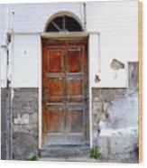 Old Door In Sorrento Wood Print