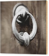 old Door Knocker Wood Print