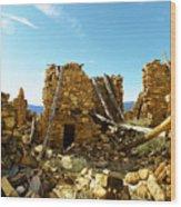 Old Doors Kinishba Ruins Wood Print