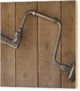 Old Drill Wood Print
