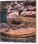 Old Drinking Cup Wood Print
