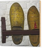Old Dutch Wooden Shoes Wood Print