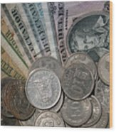 Old Ecuadorian Currency Wood Print