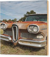 Old Edsel Wood Print