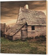 Old English Barn Wood Print by Lourry Legarde