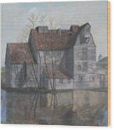Old English Mill Wood Print