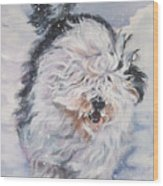 Old English Sheepdog  Wood Print