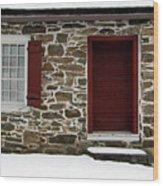 Old Entryway Wood Print