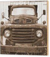Old F1 Sepia Ford Wood Print