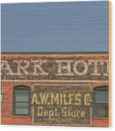 Old Faded Advertisement On An Old Brick Building Wood Print