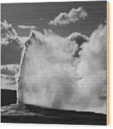 Old Faithful Geyser Wood Print