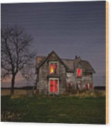 Old Farm House Wood Print by Cale Best