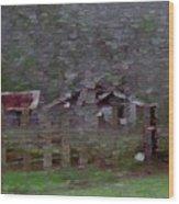 Old Farm House-impressionism Wood Print