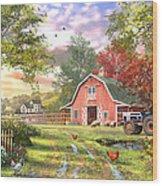 Old Farm House Variant 1 Wood Print