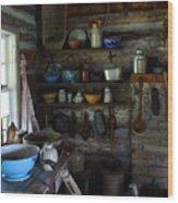 Old Farm Kitchen Wood Print