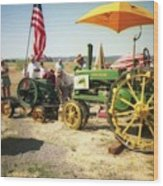 Old Farm Tractor Wood Print