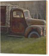 Old Farm Truck Wood Print