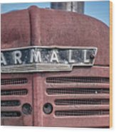 Old Farmall Tractor Grill And Nameplate Wood Print