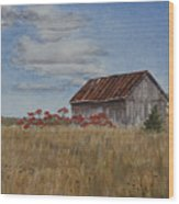 Old Farmer's Barn Wood Print