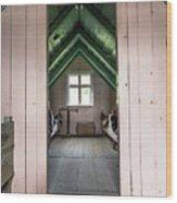 Old Farmhouse Interior Iceland Wood Print