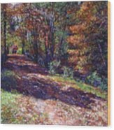 Old Farmhouse Road Wood Print