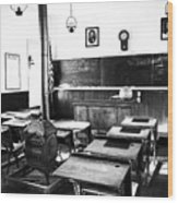 Old Fashion Clasroom Wood Print