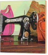 Old Fashion Machine Wood Print