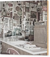 Old Fashioned Diner Wood Print by Dave & Les Jacobs
