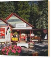 Old Fashioned General Store Wood Print