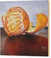 Old Fashioned Orange Wood Print