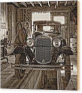 Old Fashioned Tlc Monochrome Wood Print