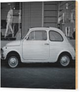 Old Fiat On The Streets Of Florence Wood Print