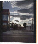 Old Fire House At Sunset - 200370 Wood Print