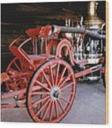 Old Fire Truck Wood Print