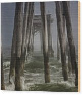 Old Fishing Pier Ocnj Wood Print