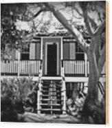 Old Florida Cottage Wood Print